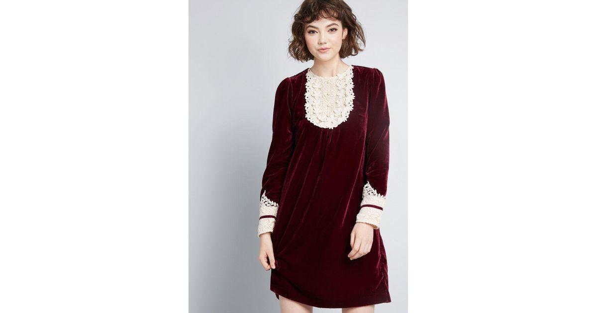 eae4ee3a6d41f Anna Sui Modcloth X Charisma Calls Velvet Dress in Purple - Lyst