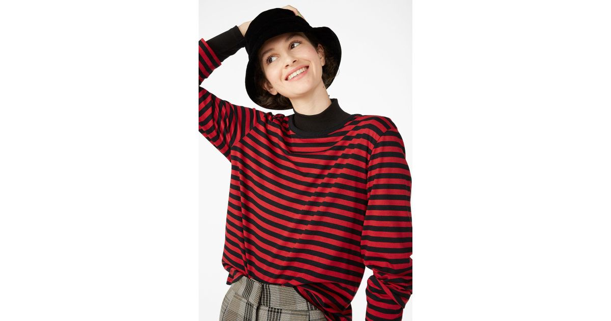 bcaf712c97f Monki Soft Long-sleeved Top in Red - Lyst