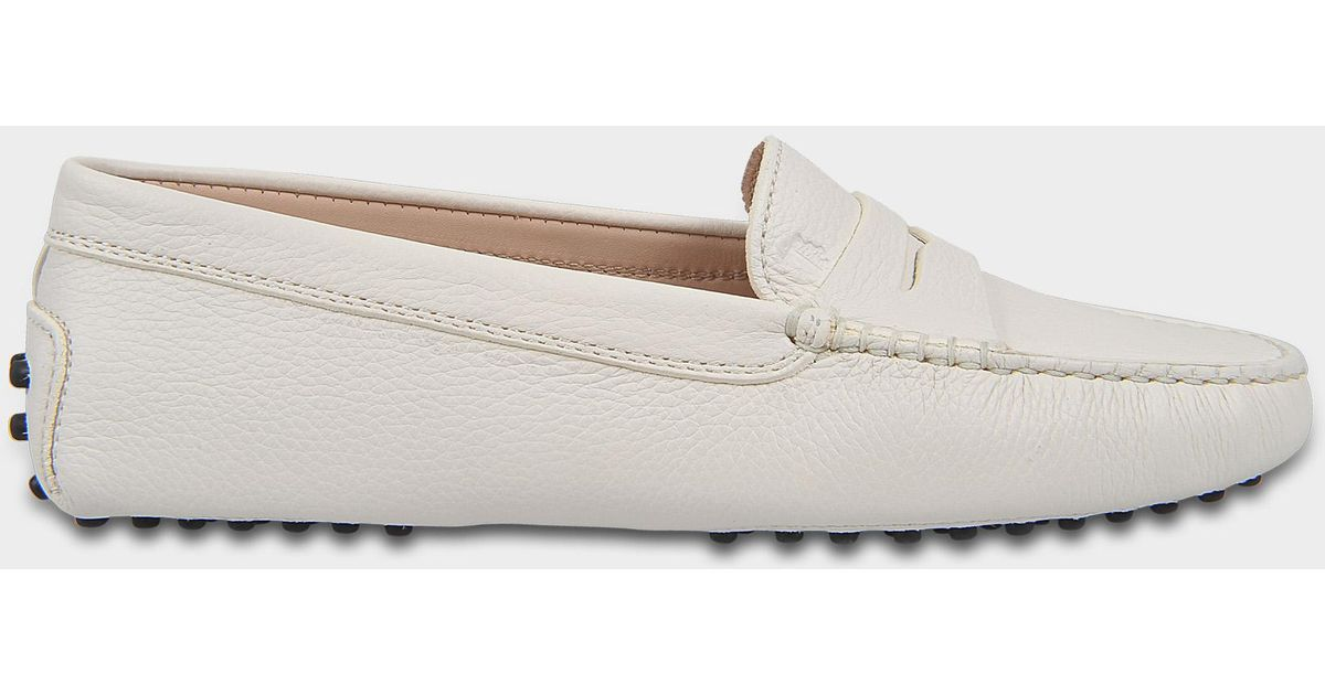 Gommino Moccasins in White Grained Calfskin Tod's iXIBZD