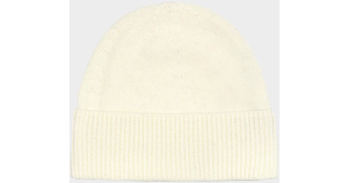 ... special sales fd234 13aa6 Lyst - Eric Bompard Classic Hat In Naturel  Cashmere in Natur ... f701829a407