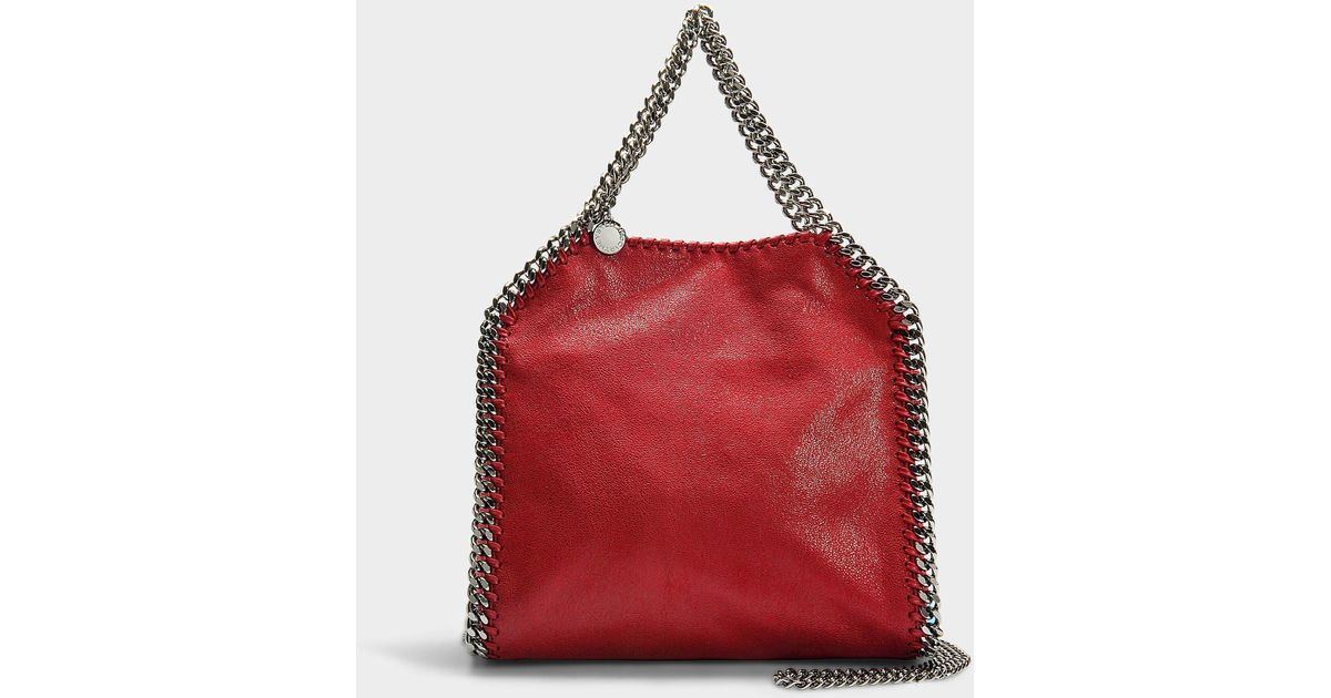 Lyst - Stella McCartney Mini Shaggy Deer Falabella Tote In Red Synthetic  Material in Red 886c7e7413