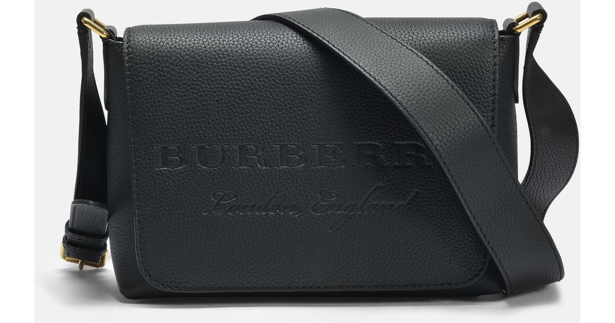 bf31253012e Burberry Small Burleigh Crossbody Bag In Black Grained Calfskin in Black -  Lyst