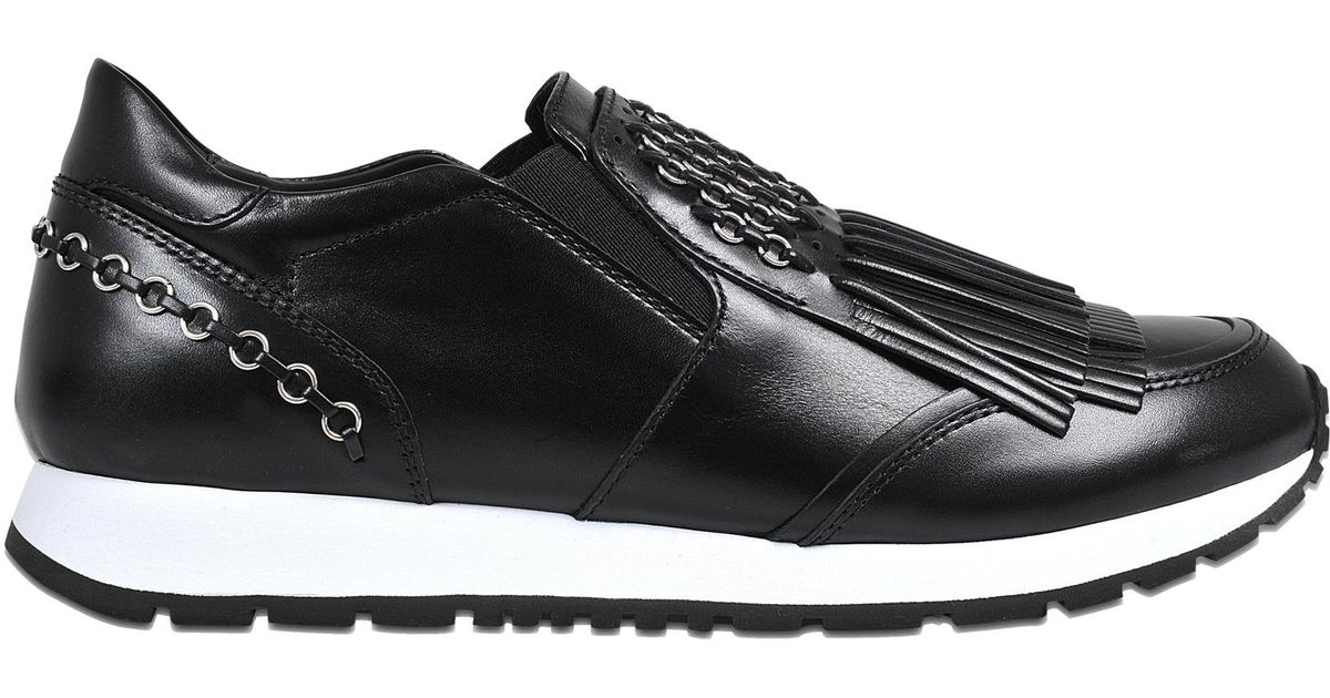 Sporty fringed logo sneakers Tod's