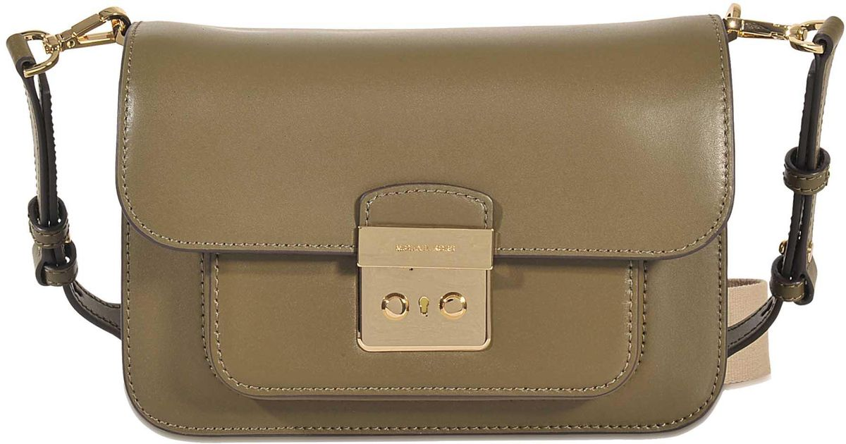 f6ccb60ce0893 ... cheap lyst michael michael kors sloan editor large shoulder bag in  green d5c97 e8123
