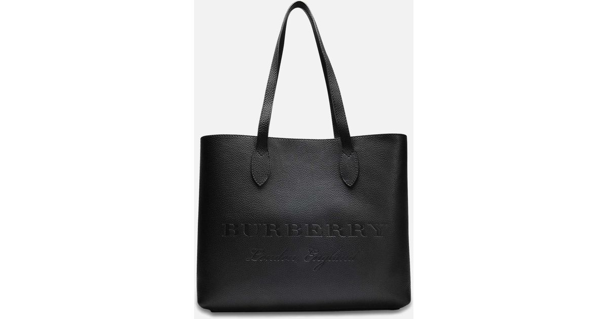 Burberry Large Remington Tote Bag In Black Grained Calfskin in Black - Lyst 23993260830cc
