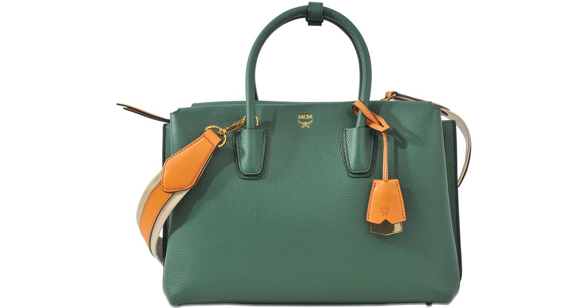 87c00844f MCM Milla Medium Bag in Green - Lyst