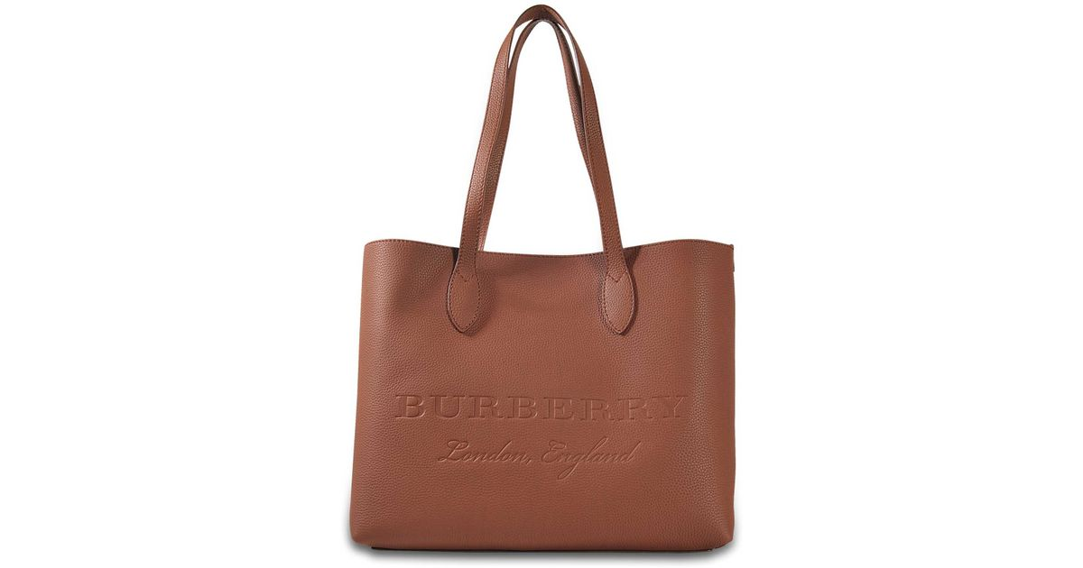 f473681c5101 Lyst - Burberry Remington Large Tote in Brown