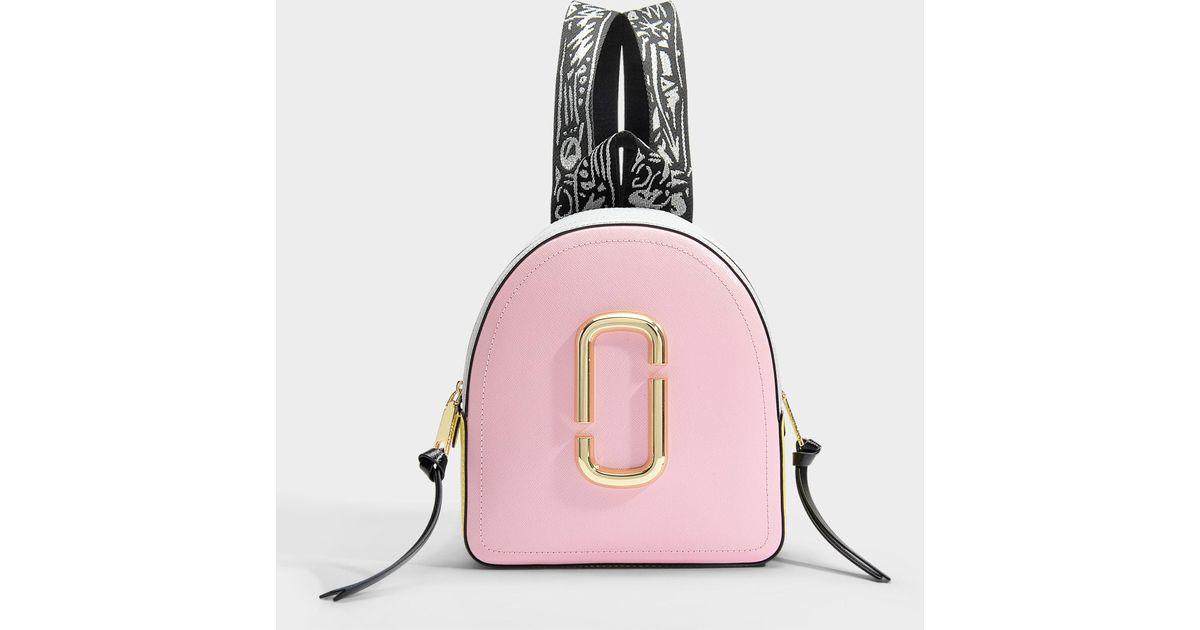 28c33b30c2 Sac à dos pack shot en cuir de veau avec revêtement en polyuréthane  multicolore Marc Jacobs en coloris Rose - Lyst