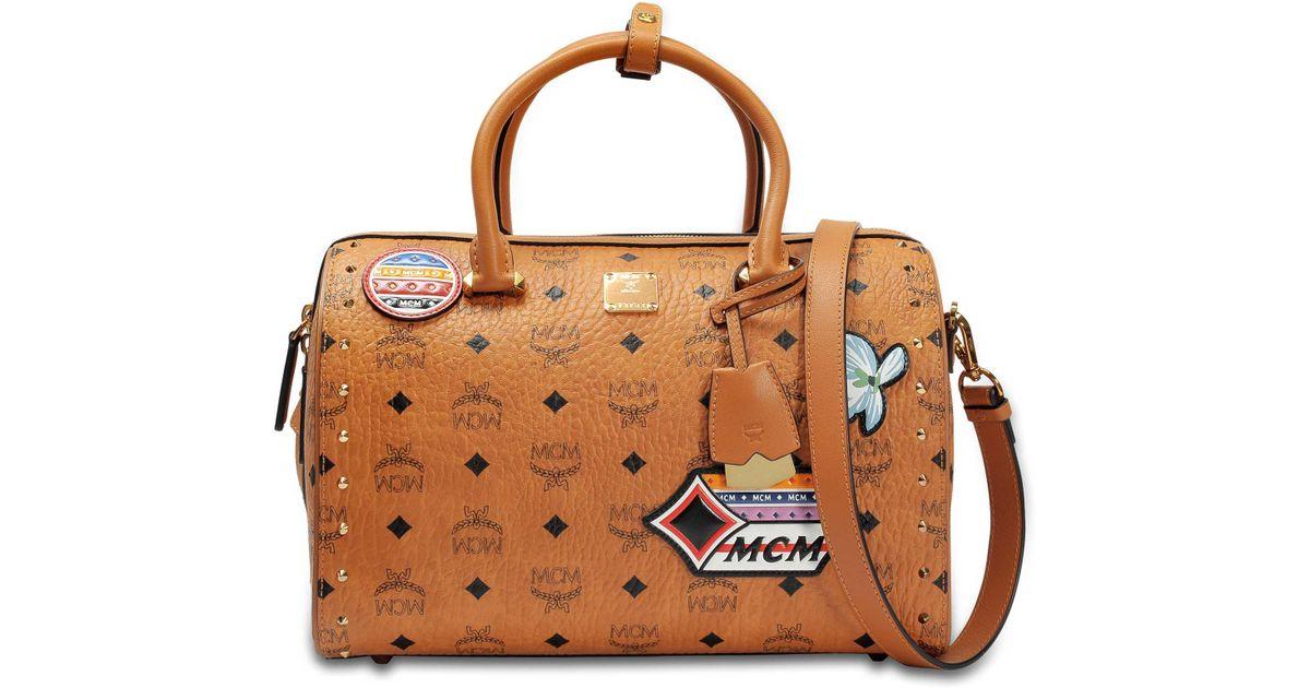 essential mcm medium nero drawstring leather messenger 4Lj35RA