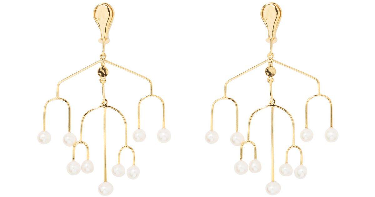 Siroco earrings with baroque pearls Aurélie Bidermann H48IWU4