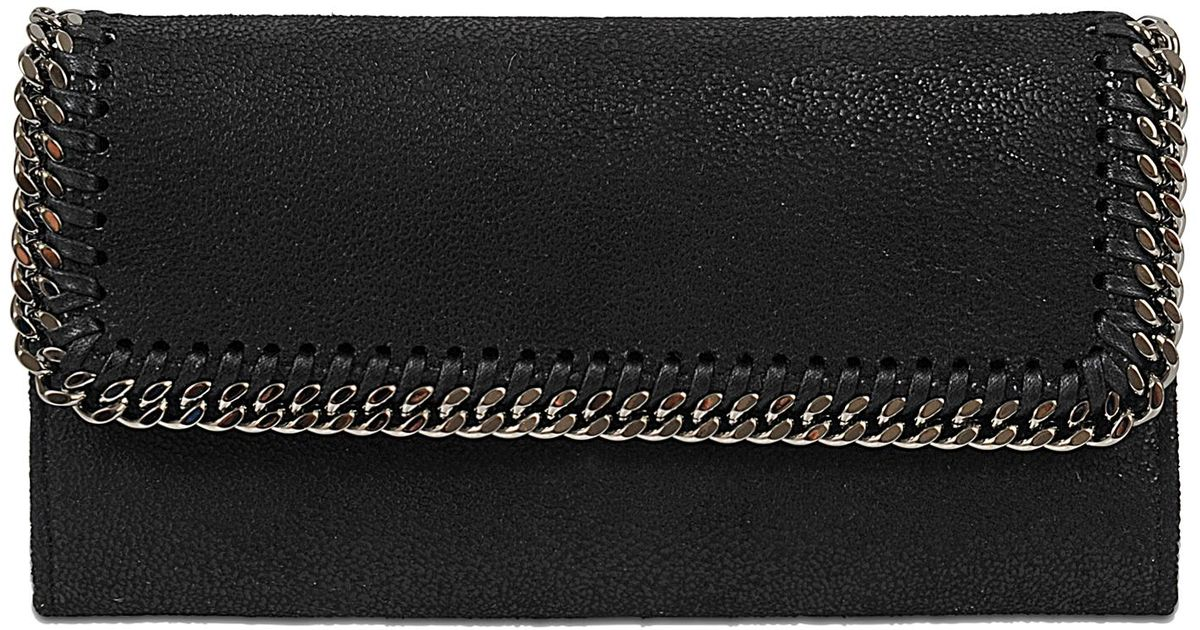 Continental Falabella Flap Wallet in Black Eco Leather Stella McCartney vaw3quW3