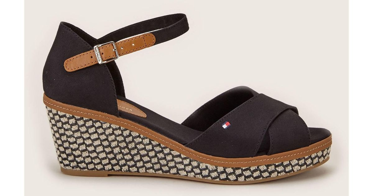 298630ccd Lyst - Tommy Hilfiger Wedges in Black
