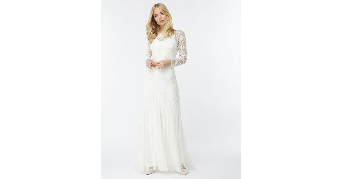 Monsoon Hermione Embellished Maxi Bridal Dress in White - Lyst