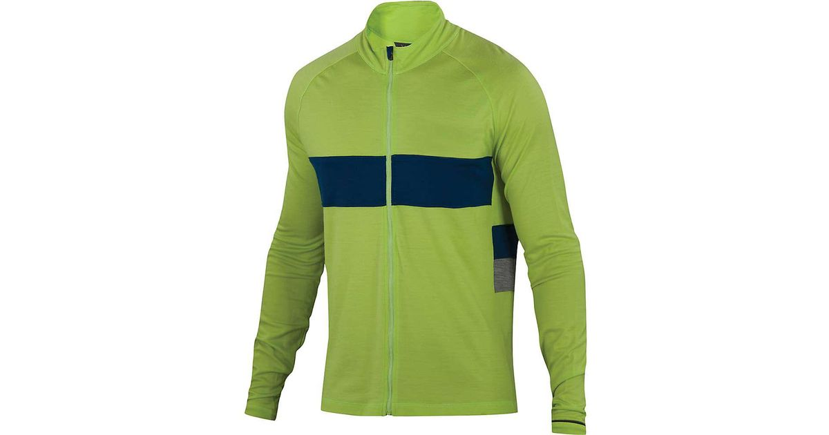 Lyst - Ibex Spoke Full Zip Ls Jersey in Green for Men 70586d377