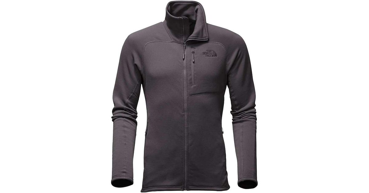 b8b92d69c The North Face - Gray Flux 2 Power Stretch Full Zip for Men - Lyst