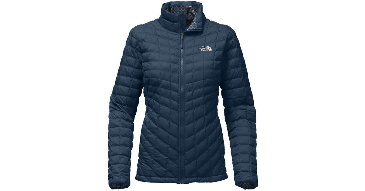 Lyst - The North Face Thermoball Full Zip Jacket in Blue 5ed632793