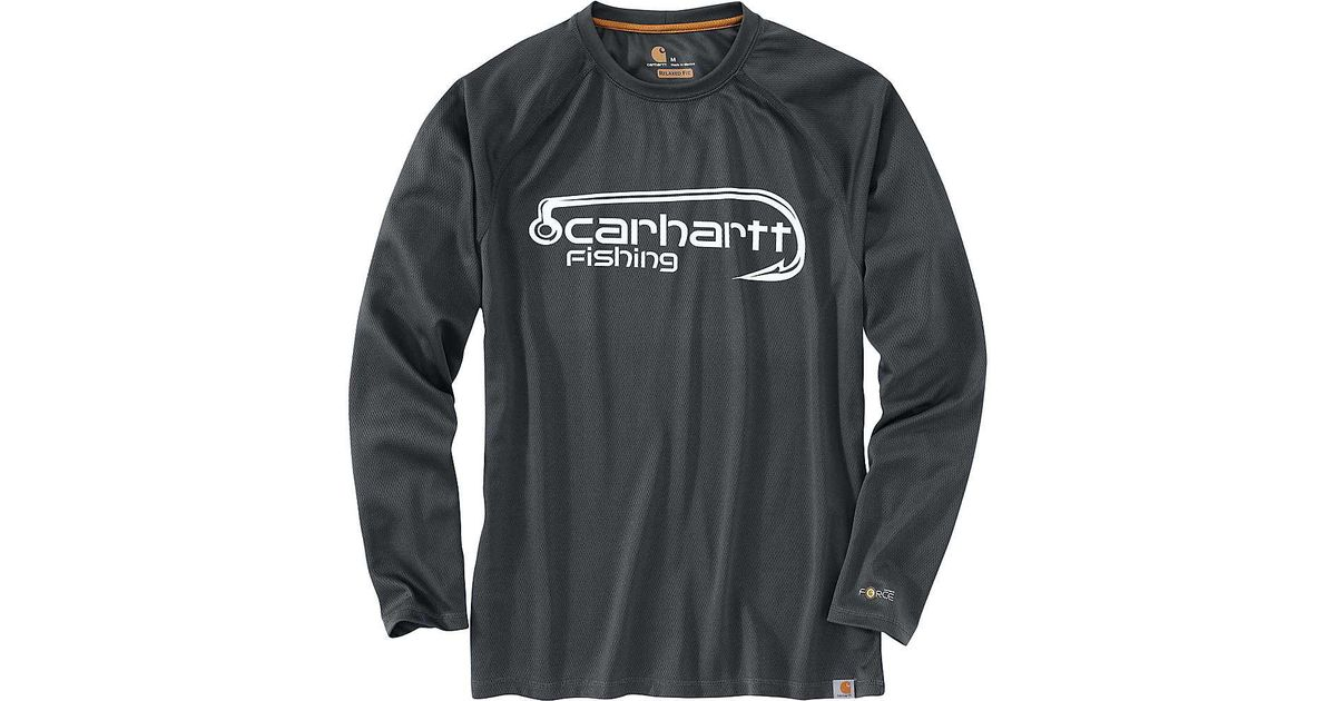 493fbbc1b Carhartt Force Fishing Hook Graphic Ls T-shirt in Gray for Men - Lyst