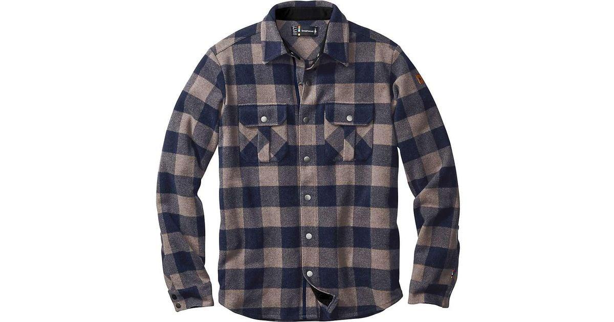 8050887b3271 Lyst - Smartwool Anchor Line Shirt Jacket in Blue for Men