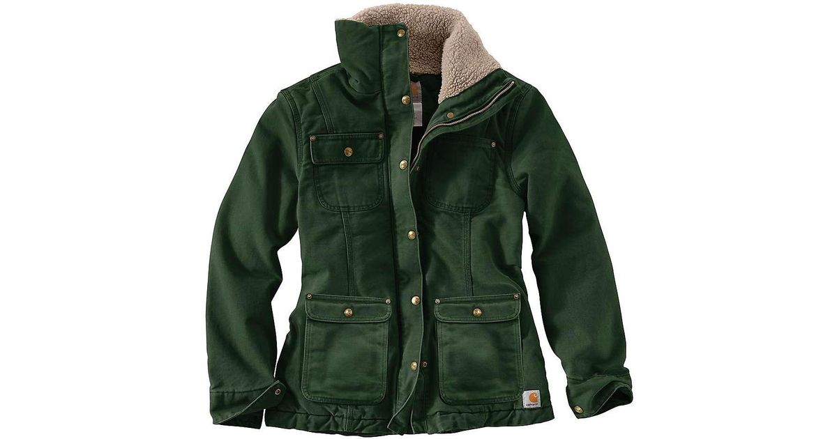 cc17ce2ac9ad7 Carhartt Weathered Duck Wesley Coat in Green - Lyst