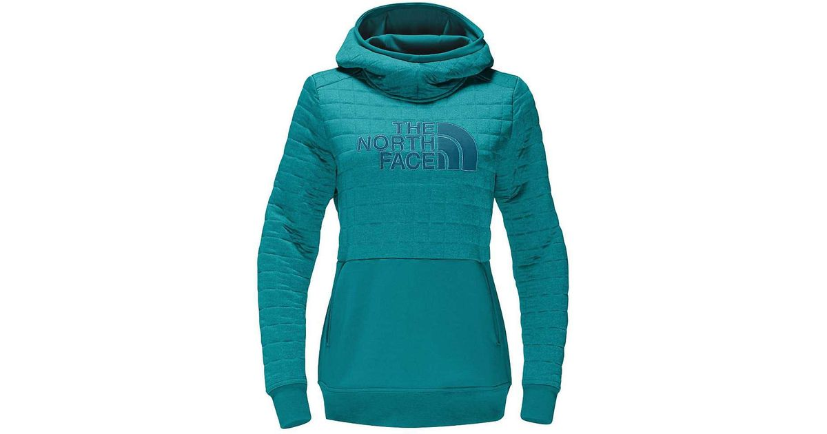 88ca721fb The North Face - Blue Half Dome Quilted Pullover Hoodie - Lyst
