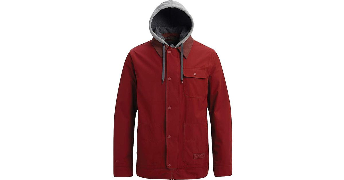 Jacket Burton Gore For Men Tex Red Dunmore rxhtsdQC
