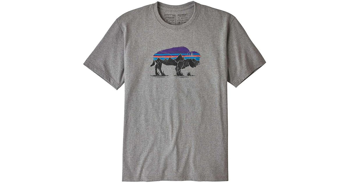 ce7719b28 Patagonia Fitz Roy Bison Responsibili-tee T-shirt in Gray for Men - Lyst