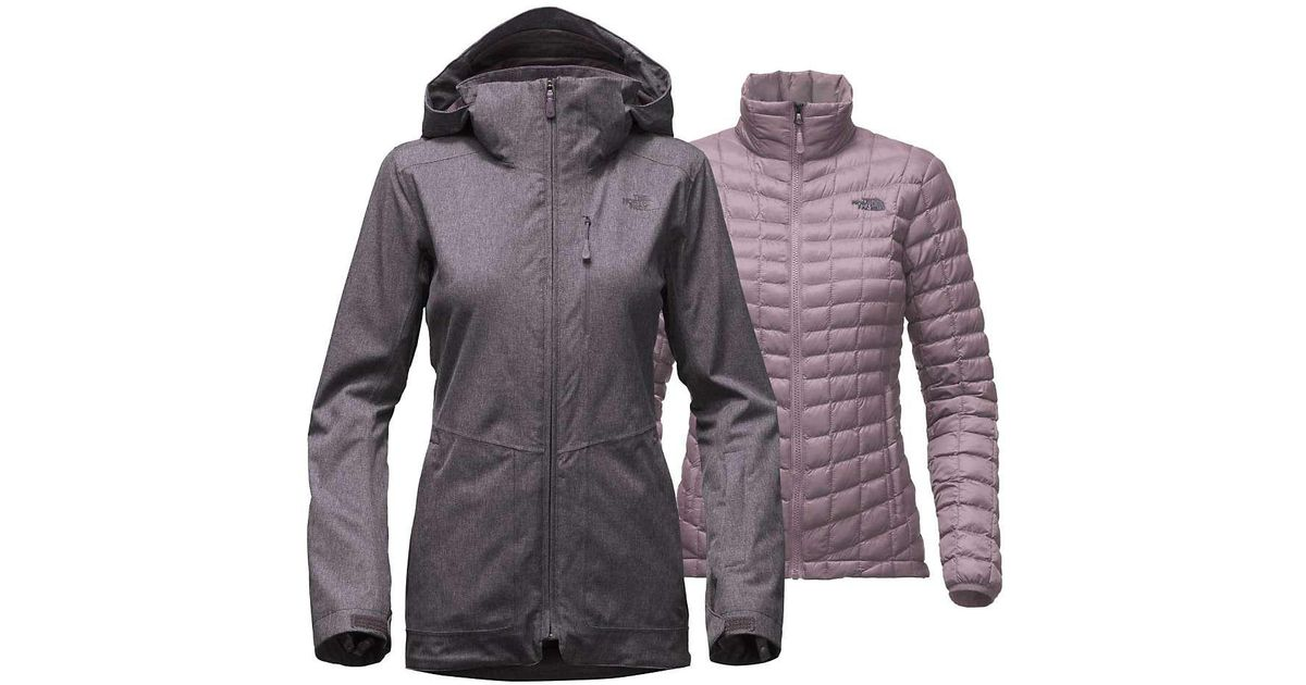 59787bf80 The North Face - Gray Thermoball Snow Triclimate Parka - Lyst
