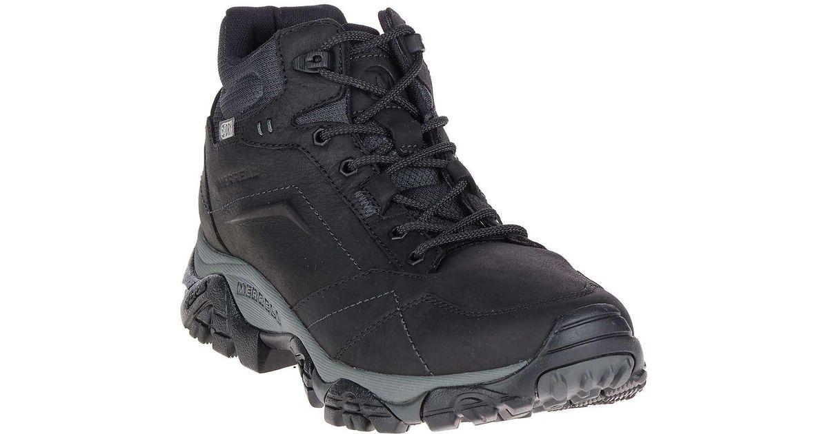 64c18715c03 Merrell Moab Adventure Mid Waterproof Boot in Black for Men - Lyst