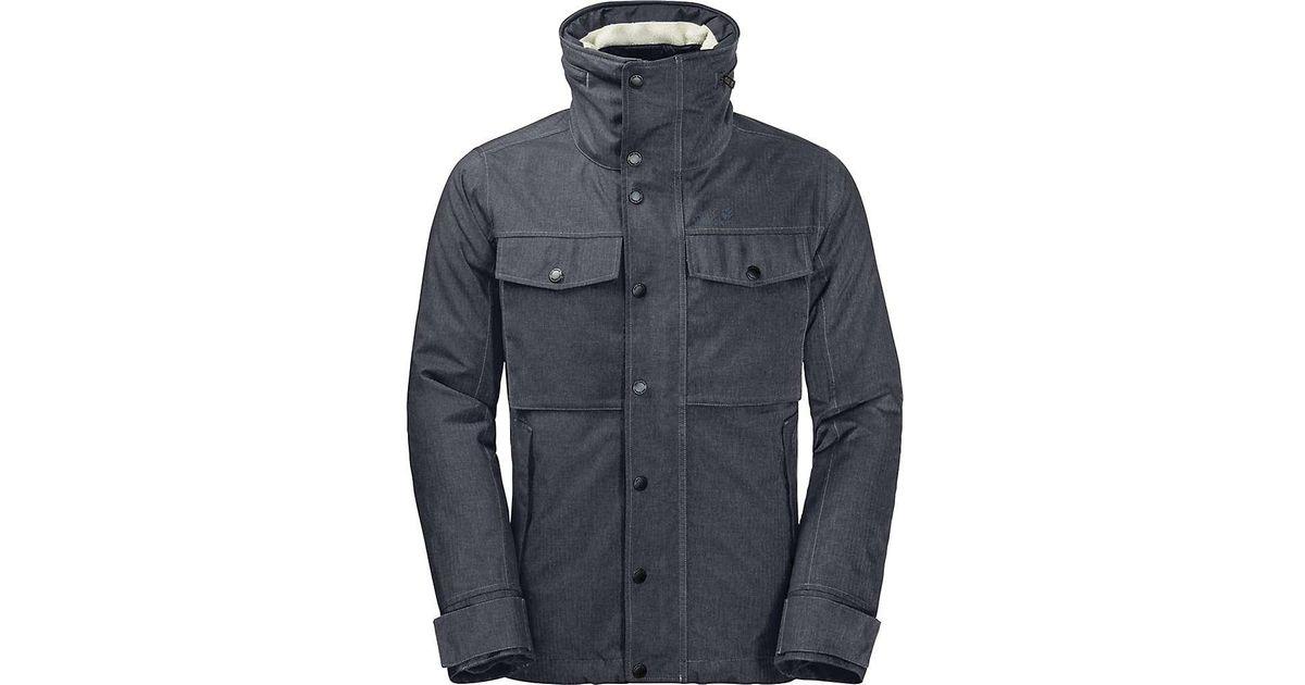 7f2c7c8121c Jack Wolfskin Fraser Canyon Jacket in Blue for Men - Lyst