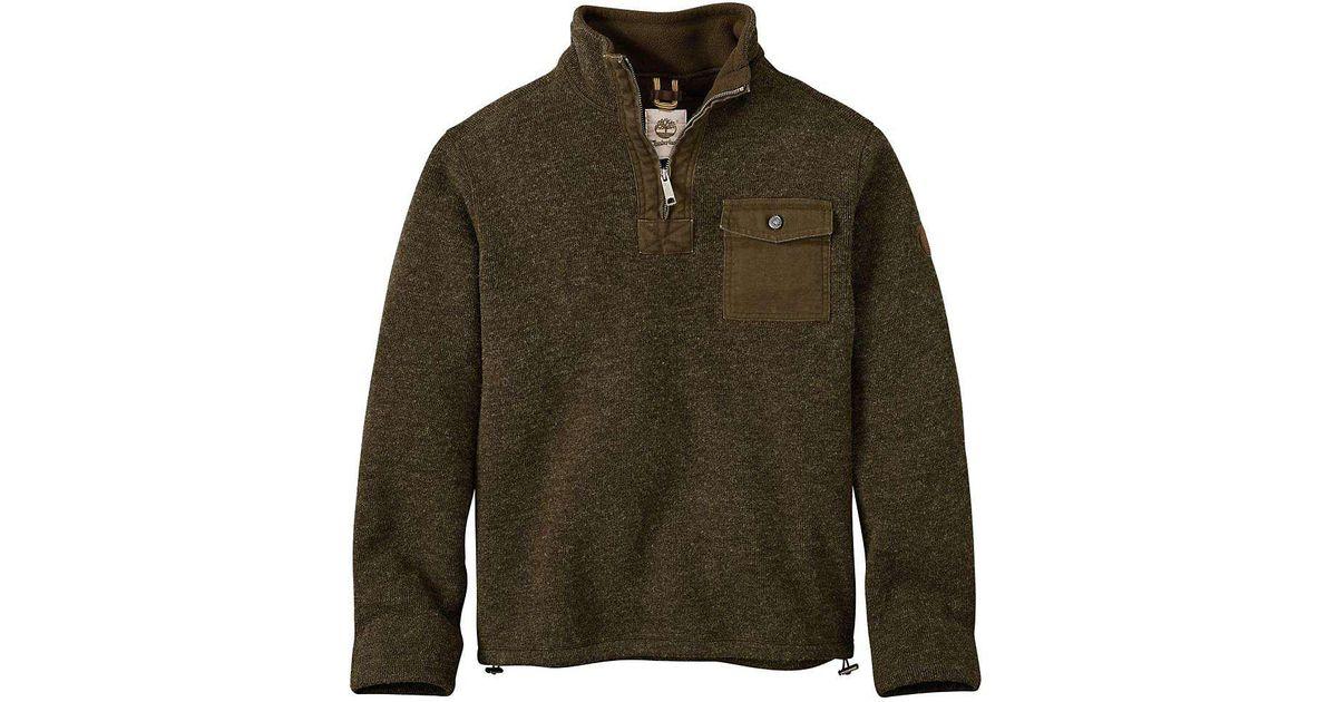 4e8629b11 Timberland Apparel - Green Timberland Branch River Half Zip Fleece Jacket  for Men - Lyst