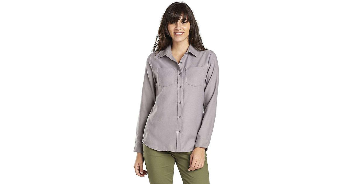 1a644490 United By Blue Pinedale Wool Button Down Ls Shirt in Gray - Lyst