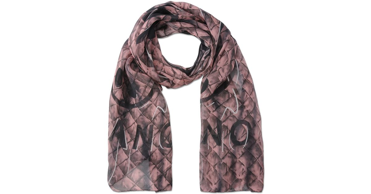 moschino scarf in pink lyst