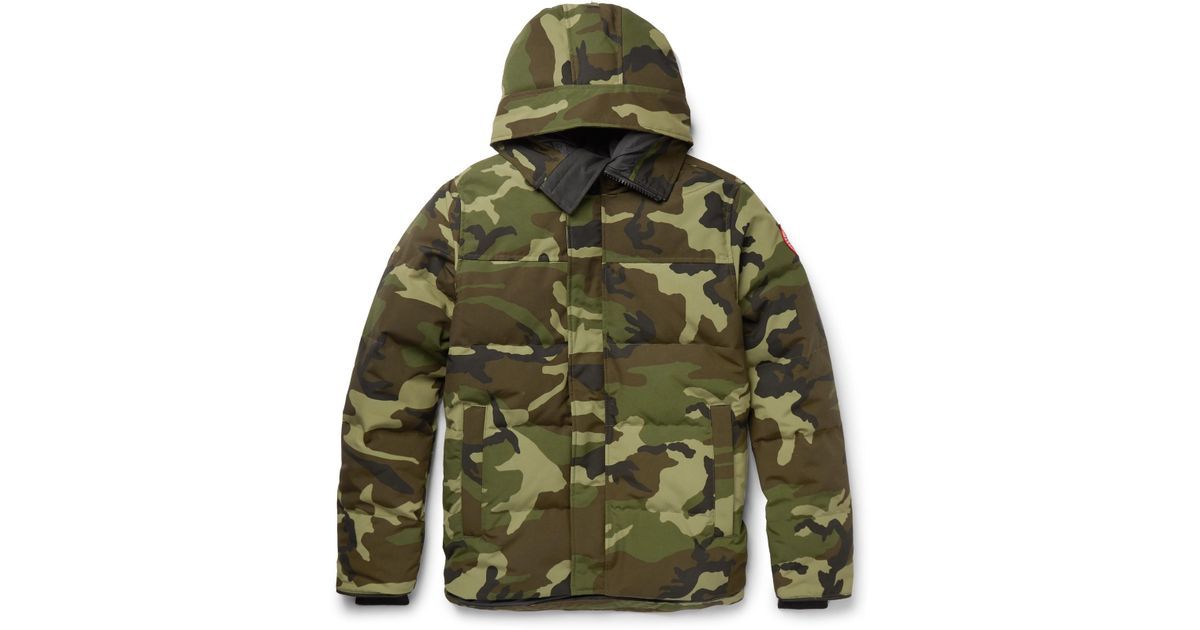 af642c6f7ab94 Canada Goose Macmillan Slim-fit Camouflage-print Quilted Shell Hooded Down  Parka in Green for Men - Lyst