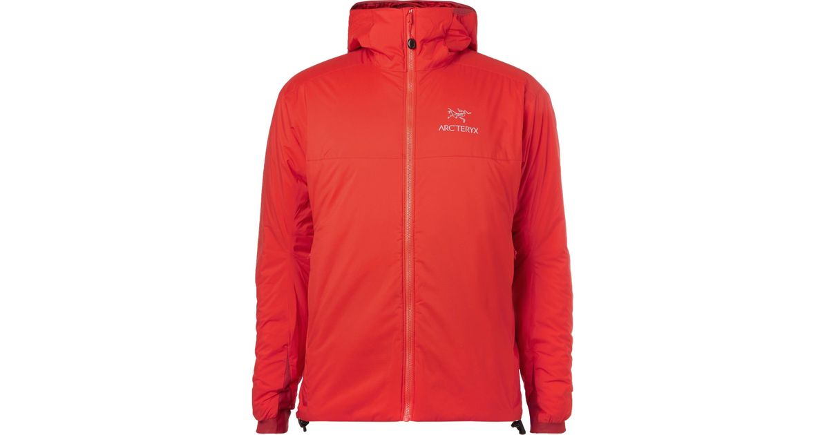134d492f0 Lyst - Arc teryx Atom Ar Padded Ripstop Hooded Jacket in Red for Men