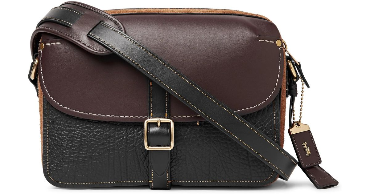 a8b834c73565 ... canada lyst coach gotham suede and leather messenger bag in black for  men 2268b a8f77