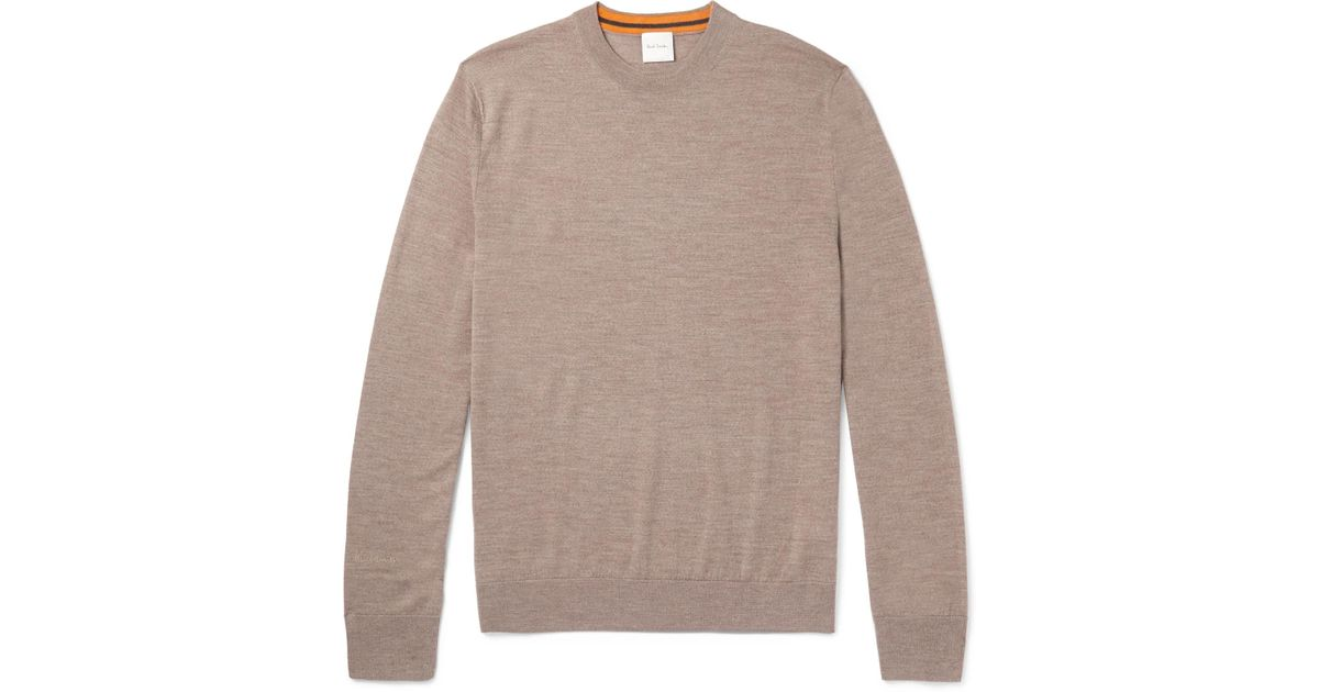 Paul smith Merino Wool Sweater in Brown for Men | Lyst