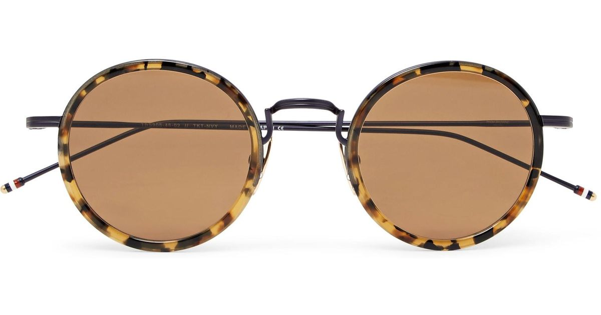 round shaped sunglasses - Metallic Thom Browne XxCV9A