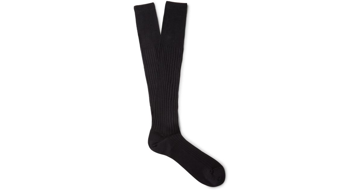 Outlet Free Shipping Authentic Ribbed Cotton Over-the-calf Socks Ermenegildo Zegna Marketable Online Buy Cheap Shopping Online Buy Cheap Low Price Fee Shipping Collections Sale Online dMcrK