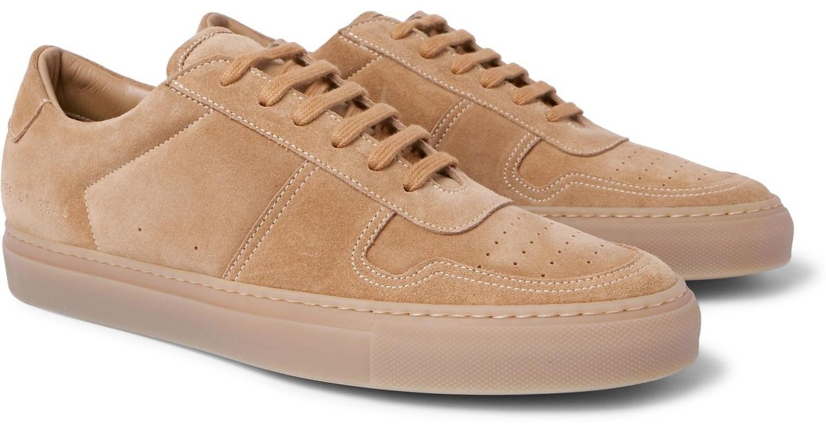 9688103a114 Lyst - Common Projects Bball Suede Sneakers in Natural for Men