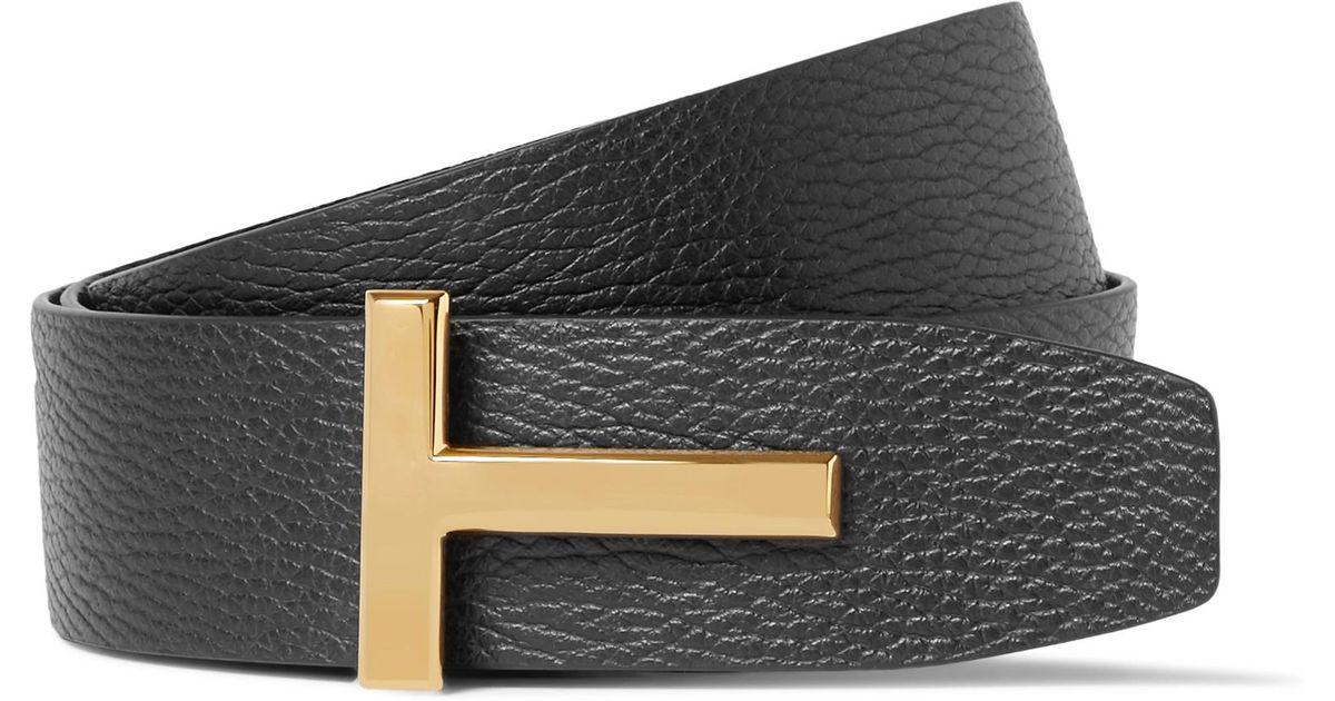 4cm Black And Brown Reversible Full-grain Leather Belt Tom Ford 2FWQWxWs3n