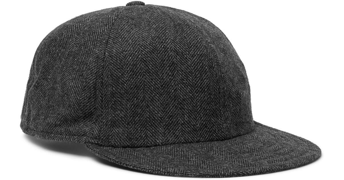 6a02792d3c5 Lyst - Borsalino Herringbone Virgin Wool-blend Baseball Cap in Gray for Men