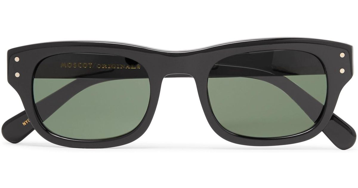 Frame Square Lyst For Moscot Nebb Black Sunglasses Acetate In Men q7S1aSwf