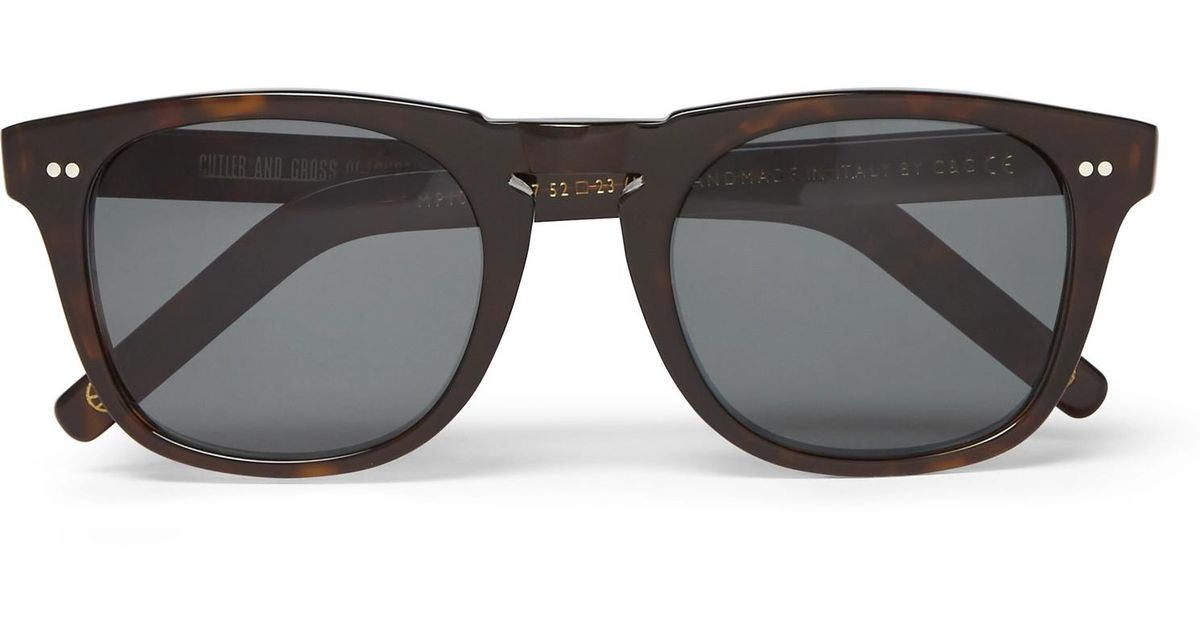 99d1f3ac8c Lyst - Kingsman Cutler And Gross D-frame Tortoiseshell Acetate Sunglasses  in Brown for Men
