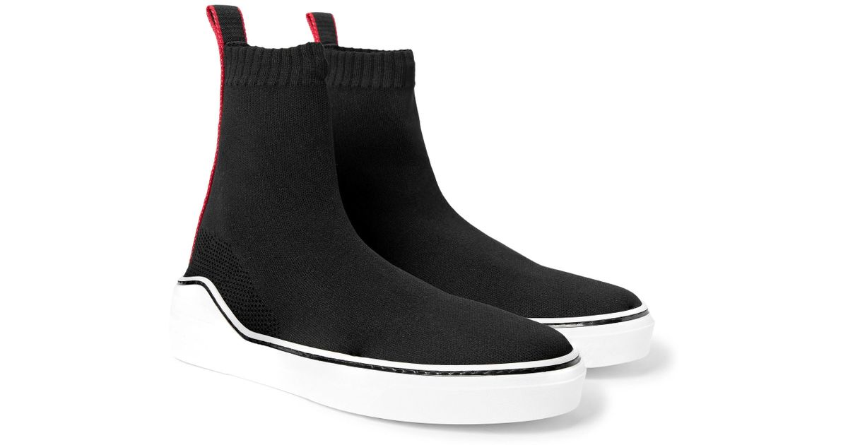 d651eeb81e Givenchy George V Knit Sock Sneakers in Black for Men - Save 75% - Lyst