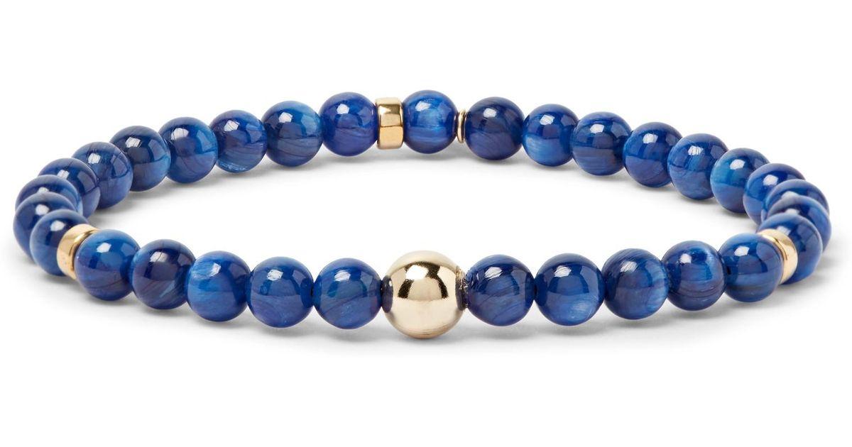 Peyote Bird Kyanite And Gold-tone Bracelet - Blue DkrkFdUm