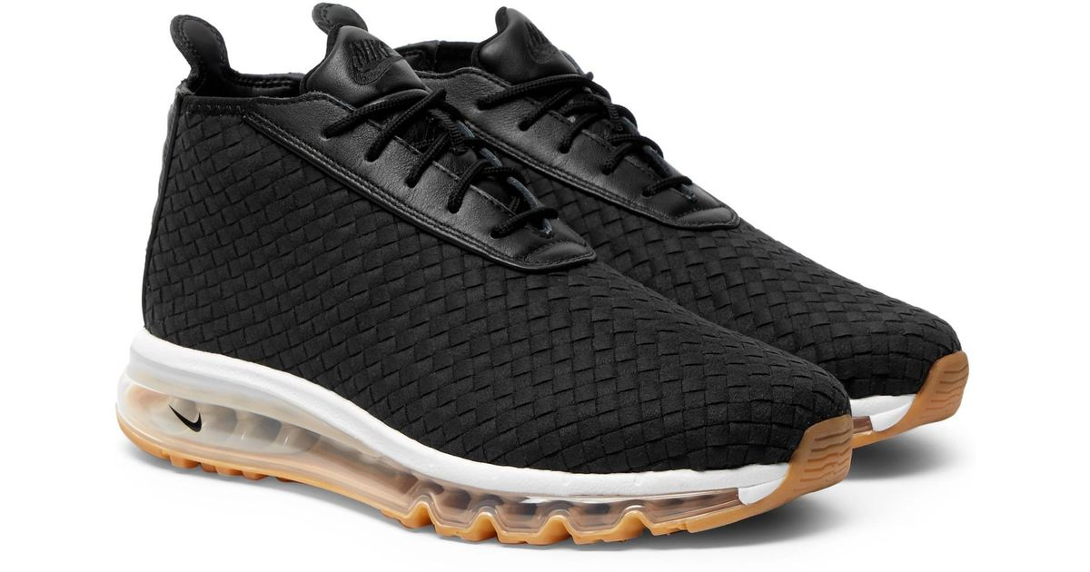 Lyst - Nike Lab Air Max Faux Leather-trimmed Woven Sneaker Boots in Black for Men