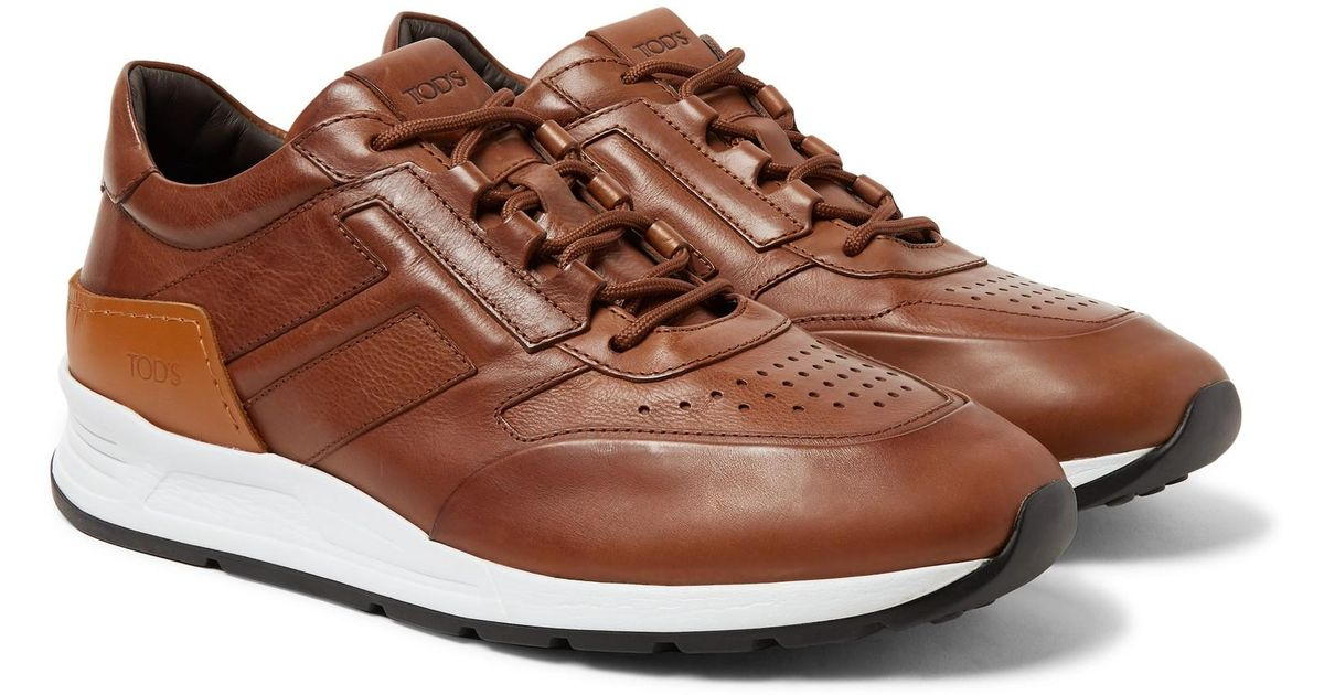 0646e30824 Tod's Sportivo Leather Sneakers in Brown for Men - Lyst