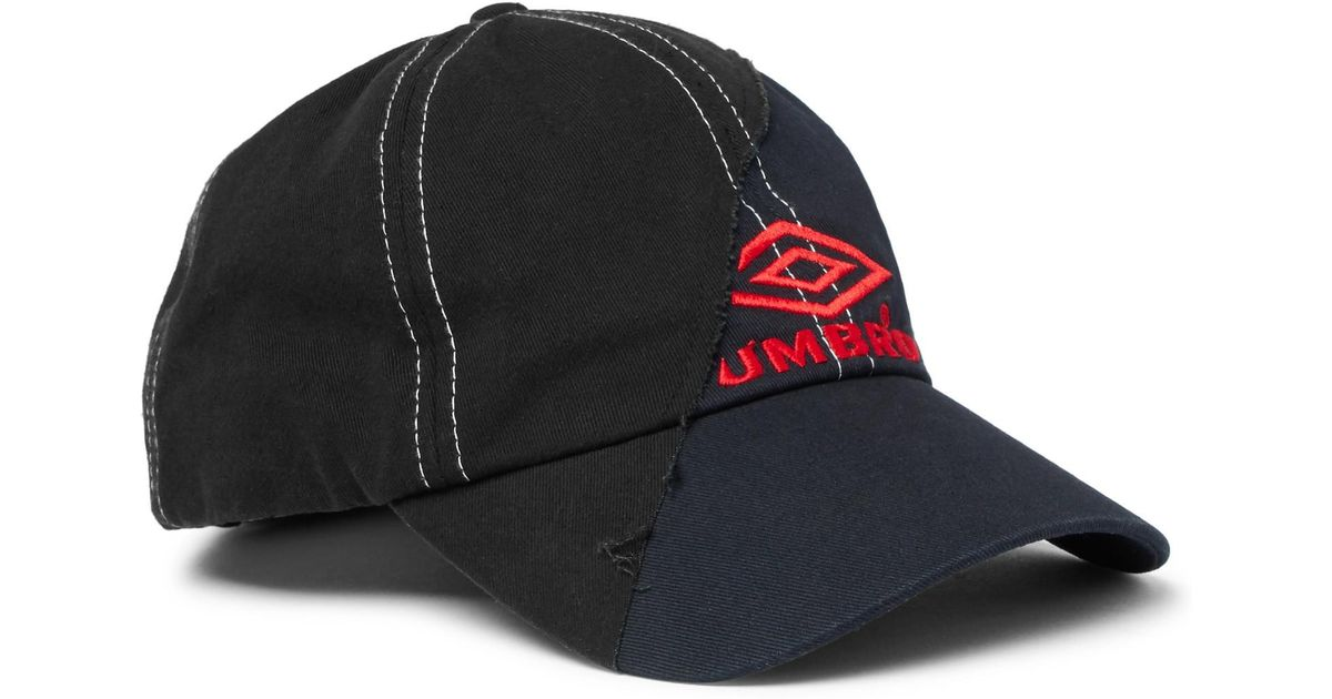 Vetements + Umbro Embroidered Cotton-twill Baseball Cap in Blue for Men -  Lyst 24e665b86905