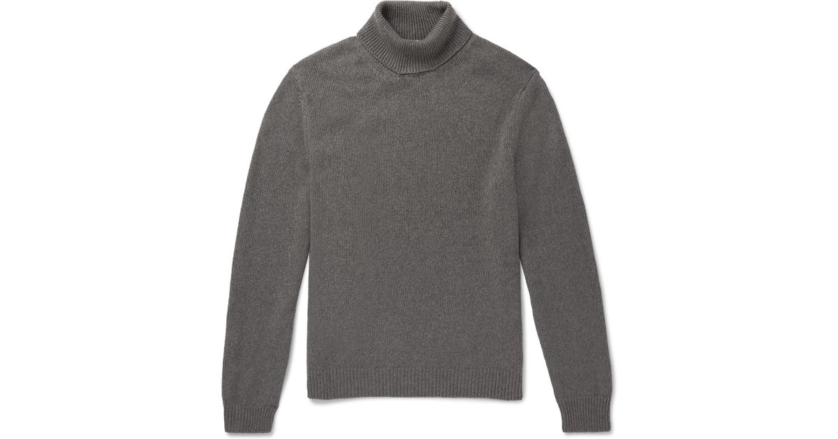 Lyst For Sweater Rollneck Watercolour Men Gray In Dyed Cashmere Alba Massimo 8vgqOw