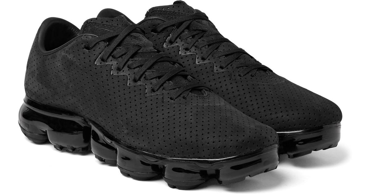 20b79adf0330dd Lyst - Nike Air Vapormax Ltr Perforated Suede Sneakers in Black for Men